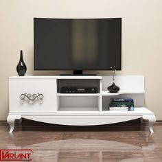 Practic in orice casa - mezoni. Living Room Designs, Living Spaces, Pc Desktop Wallpaper, White Tv Stands, Tv Stand Designs, Tv Cabinets, Classic Tv, Timeless Design, House Plans