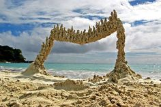 Making beach art is a relatively new passion for Kaliner, a sociology lecturer at Harvard University... - Photography courtesy of Matt Kaliner