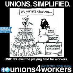 Shame on those who believe that American workers are merely slave labor. My husband was in a union for 13 years, best job he ever had. Of course while Obama has been in office, that job ceases to exit. Workers Union, Workers Rights, Labor Union, United We Stand, Best Quotes, Wisdom, Thoughts, Let It Be, Humor