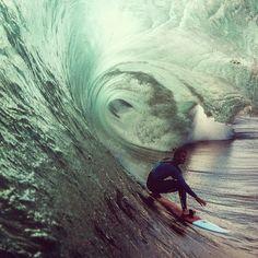 green tunnel...