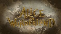 Alice in wonderland title sequence. Alice in wonderland (2010, Tim Burton) Title sequence was created by Park Daye :D  Adobe Photoshop CS6 A...