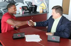David Johnson - former running back for UNI - was picked in the third round of the draft and has officially signed with the Arizona Cardinals.