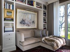 Maison Bel Air Library Library Family Room Architectural Detail American Architectural Details by M Frederick Design Murphy Beds, Home Decor Bedroom, Living Room Decor, Living Rooms, Library Design, Library Ideas, Library Room, Study Design, Home Libraries