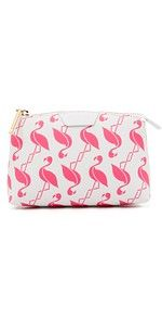 Kate Spade New York Vacation Bella Pouchette Flamingo Party, Flamingo Print, Pink Flamingos, Pink Love, Pretty In Pink, New York Vacation, Womens Designer Bags, Cosmetic Pouch, Backpack Purse