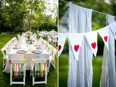 cute bunting! Laura Ivanova Photography and Elizabeth Anne Weddings featured on I Love Farm Weddings - Northern MN lodge wedding