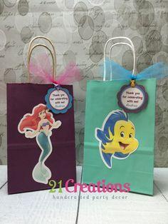 Little Mermaid Favor bolsas con etiquetas por 21CreationsToo