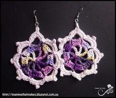 Crochet Patterns Galore - Iris Earrings... Free pattern!