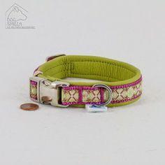 """Mini Leder Halsband """"Romance"""" grün  24,90€"""