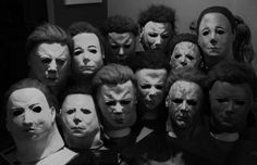 The many faces of Michael Myers. All different, yet so very the same.