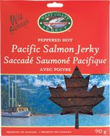 / Salmon Jerky is enlivened with the flavour of mild herbs and spices, a pinch of sea salt, a hint of smoky flavor, a touch of sugar, and pepper corns. Pacific Salmon, E Coupons, Smoked Salmon, Sea Salt, Spices, Herbs, Sugar, Stuffed Peppers, Touch