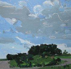 harry stooshinoff, September Hill Original Landscape Painting on Paper by Paintbox