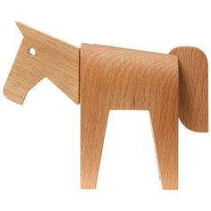 dovetail horse by areaware. Wooden Horse, Wooden Shapes, Modern Kids, Wood Pieces, Wood Toys, Kids Decor, Kids Furniture, Decoration, Home Crafts