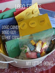 LEGO favors & games-  Create a LEGO guy (printables), I Spy a LEGO guy