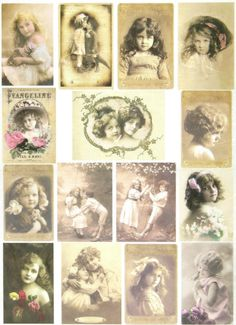 Ricepaper/ Decoupage paper, Scrapbooking Sheets /Craft Paper Vintage Sweet Girls | eBay