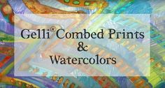 This video shows a painterly approach to a combed Gelli® print — then takes it to the next level by adding watercolors! Take a look! This video demonstration...