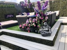 Our fantastic deck boards can be used to create stunning outdoor spaces just like this one from Wendy in Bracknell 😍 Using our EasyClean Legacy Vintage White decking, she has transformed her garden into a place of beauty 👌 Visit our site today to order your FREE sample! #compositedecking #deck #garden #customer #homedecor #design