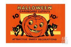Halloween Cardboard Cutouts Art Print at Art.com