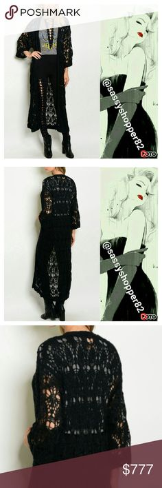 Black knitted duster/cardigan Brand news Boutique item   ⭐⭐Fall/winter STAPLE PIECE⭐⭐   Fabulous long black knitted sister/cardigan. Easy to grab and go. Pair over a dress with boots or with shorts, a tank top and sandals or with jeans and a comfy top. A season must have!   Comfortable warm cozy chic trendy street a type popular black knit knitted crochet seater duster holiday. Sassy Boutique Sweaters Cardigans