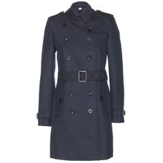 $1095 NEW Burberry Brit Bramington Trench Coat In Navy US 13 NWOT *EXCELLENT* #Burberry #Trench