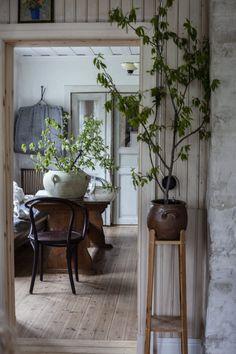 Stress är en världslig sak - Hosted by nature Swedish Cottage, Cozy Cottage, Diy Home Decor, Room Decor, Sweet Home, Slow Living, White Houses, Old Houses, Decoration