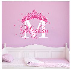 Princess Wall Decal Crown Vinyl Stickers Baby Girl por inwalllife