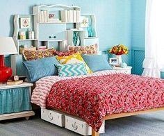 Turn old drawers into stackable shelves. home design room design design ideas Old Dresser Drawers, Dressers, Painted Drawers, Diy Headboards, Storage Headboard, Headboard Ideas, Bedroom Storage, Headboard Designs, Bedroom Organization