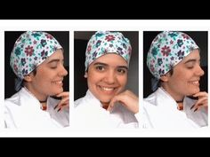 Touca cirúrgica #Molde #grátis - YouTube Easy Hairstyles For Long Hair, Headband Hairstyles, Sewing Tutorials, Sewing Projects, Hand Embroidery Videos, Scrub Caps, Scrubs, Hand Sewing, Headbands