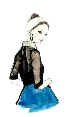 Vita Yang Fashion Illustration, back view