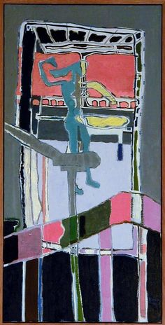 Patrick Heron, Figure in Harbour Room - Orange and Grey : Abstract Art Images, Abstract Paintings, Patrick Heron, St Ives, Paintings I Love, Art Boards, Modern Art, Art Art, Orange