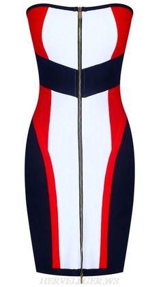 Front Zipper Bandeau Bandage Dress Black White Red - Bandage Dresses and Celebrity Inspired Fashion Red Bandage Dress, Bodycon Dress, Black Dress Outfits, Dress Black, Trendy Dresses, Fashion Dresses, Black Dress Accessories, Bandeau Dress, Fashion Sewing