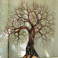 Wire Tree Of Life Ancient Grove Spirits sculpture by CrowsFeathers