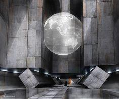 EXO 01 -Temple Entrance, Mathieu Latour-Duhaime on ArtStation at https://www.artstation.com/artwork/xJmOX