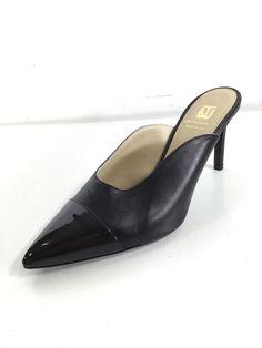 6ee5f7129f7 1465 Bruno Magli Black Leather Point Toe Heels Women Size 36.5  fashion   clothing