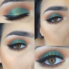 But a shimmering green eye is simply majestic. | 19 Stunning Makeup Looks To Fall In Love With This Autumn