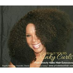 """18"""" Pure Beauty- 4abc hair extensions mixed with Fro Natural- 4c hair extensions   Naturally Yours Kinky Curls Collection by PS Hair ( Private Stock Hair)"""