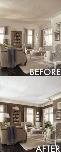 Popcorn Ceiling Hack... And many other decor, kitchen, cleaning, fashion shortcuts.