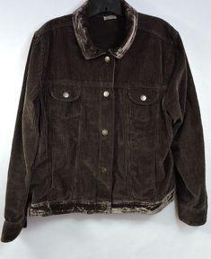 J.Jill Women's Brown Corduroy Jacket Size XL #JJill #BasicJacket #Casual