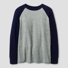 Boys' Long Sleeve Baseball T-Shirt - Cat & Jack™ Navy XL : Target
