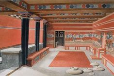 Reconstruction of the Throne Room, Palace of Knossos