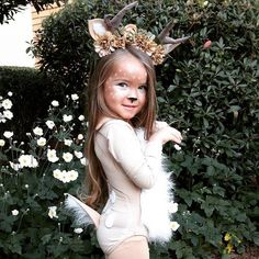 Cute and Spooky Halloween Costumes for Toddlers - Hike n Dip Halloween Costumes for Toddlers are the cutest thing in the world. Here are the best Halloween Costumes for babies that are perfectly cute & spooky Girl Deer Costume, Baby Deer Costume, Deer Costume For Kids, Bambi Costume, Little Girl Halloween Costumes, Spooky Halloween Costumes, Unicorn Halloween Costume, Toddler Costumes, Reindeer Costume