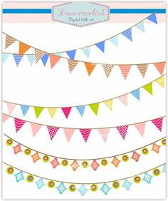 Banner clip art, flag banner, holiday craft banners.