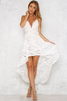 Sunset Dance Maxi Dress White