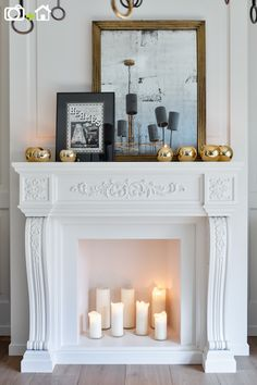 Chimenea con velas en apartamento.  #homedecor #deco #interiorismo #interiordesign