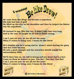 New Orleans Saints Quarterback Drew Brees – The New American Idol !