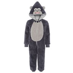 Buy John Lewis Children's Gorilla Onesie, Dark Grey Online at johnlewis.com