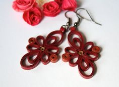 Hey, I found this really awesome Etsy listing at https://www.etsy.com/listing/196118372/quilled-earrings-bordeaux-quilled