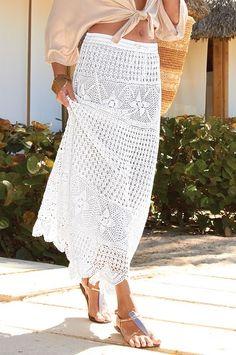 Hand-crocheted boho skirt - Boston Proper