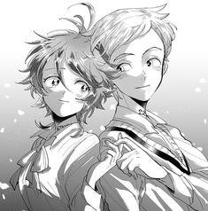 Emma e Norman (Yakusoku no Neverland) Norman, Manga Anime, Anime Art, Terra Do Nunca, Desenhos Love, Kaito Kid, Dark And Twisted, Manga Pictures, Anime Ships