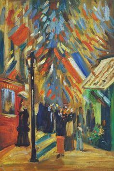 """""""Célébration Du 14 Juillet À Paris"""" (1886); by Vincent Van Gogh"""