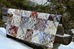 Scrap quilt with double four patches by balu51, via Flickr